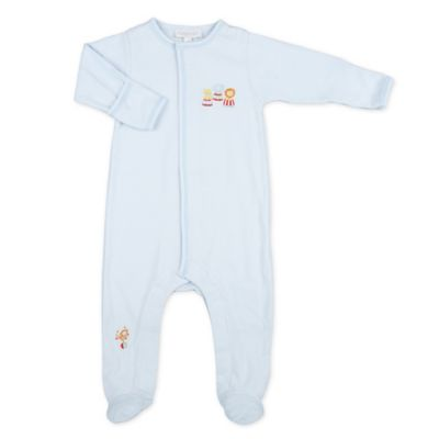 Magnolia Baby™ Newborn Circus Pima Cotton Footie in Blue