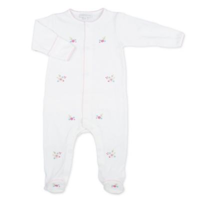 Magnolia Baby™ Size 6M Lindsey's Garden Ruffle Footie in White