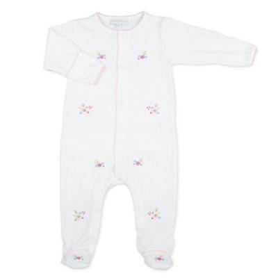 Magnolia Baby™ Newborn Lindsey's Garden Ruffle Footie in White
