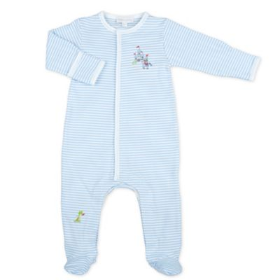 Magnolia Baby™ Newborn Prince Striped Pima Cotton Footie in Blue/White