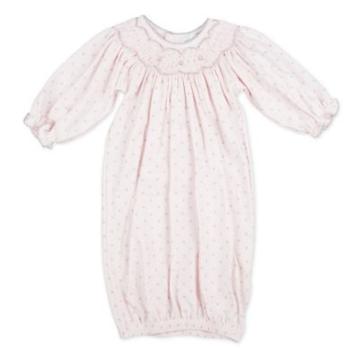 Magnolia Baby™ Newborn Bishop Smocked Gown in Grey/Pink