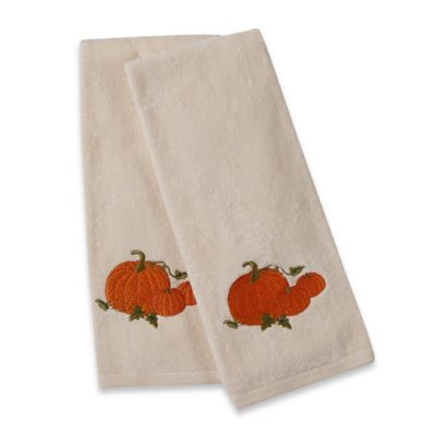 Pumpkin Hand Towels (Set of 2)