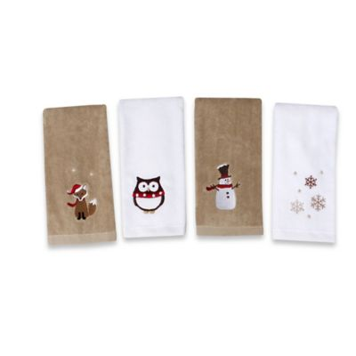 Woodland Creatures Towels (Set of 4)