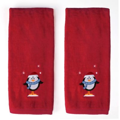 Red Bath Hand Towel