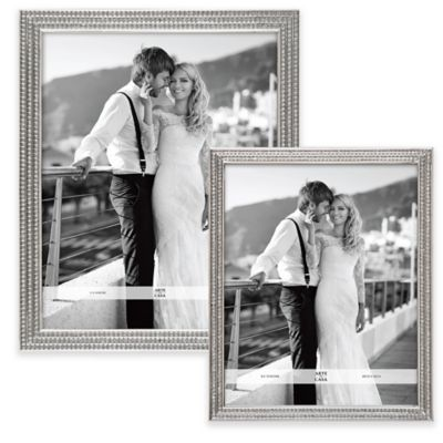 Argento 8-Inch x 10-Inch Double Row Glitter Frame in Silver