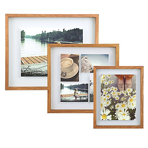 Umbra® Float Wood Picture Frame in Walnut - Bed Bath & Beyond