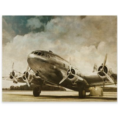 Vintage Airplane Canvas Wall Art