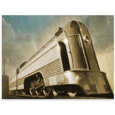 Vintage Locomotive Canvas Wall Art