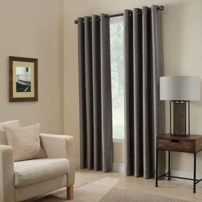 Paradise 63-Inch Room Darkening Window Curtain Panel in Pepper