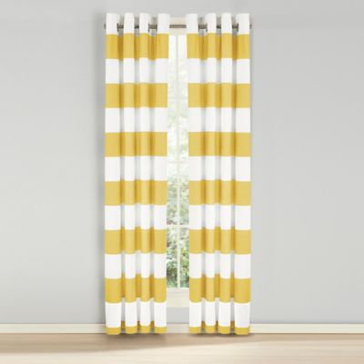 Nautica® Cabana Stripe 84-Inch Grommet Top Light Blockage Window Curtain Panel Pair in Yellow