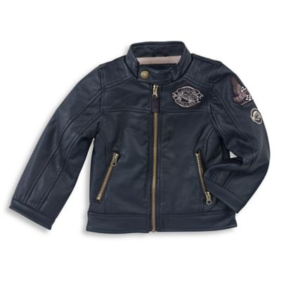 London Fog® Size 4T Moto Jacket in Black