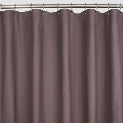 Herringbone Shower Curtain in Plum