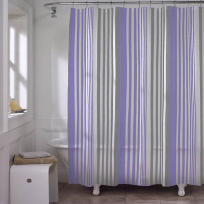 Max Stripe PEVA Shower Curtain