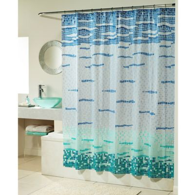 Lagoon Mosaic PEVA Shower Curtain