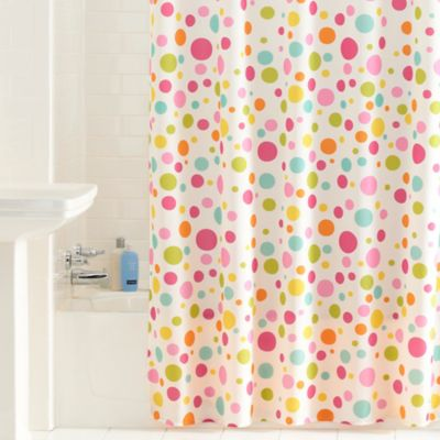 Bright Dots Shower Curtain