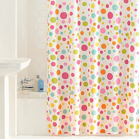 buy bright dots shower curtain from bed bath beyond
