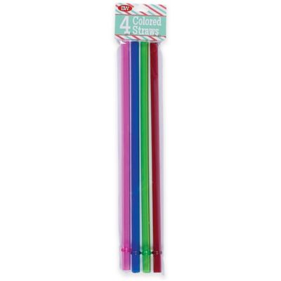 Boston Warehouse® 4-Pack Colored Replacement Straws