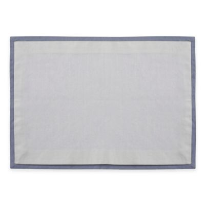 Wamsutta® Bordered Linen Placemat in Blue