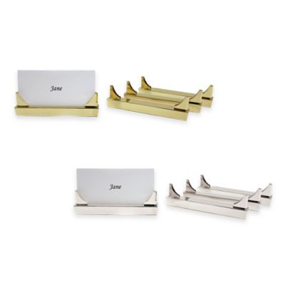 Wamsutta® Place Card Holder in Gold