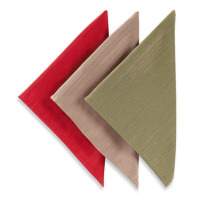 Red and Green Linen Napkins