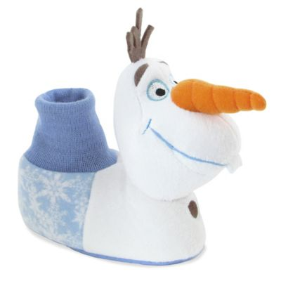 "Disney® ""Frozen"" Size 5-6 Olaf Sock Top Slipper in White"