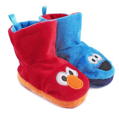 Sesame Street® Elmo/Cookie Monster Size 3-4 Reversible Bootie Slipper