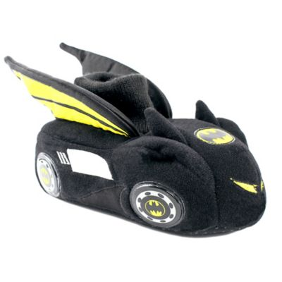 DC Comics™ Batman Size 5-6 Batmobile Sock Top Slipper in Black