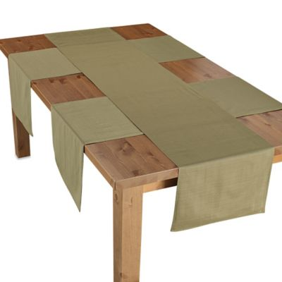 Green Red Table Linen