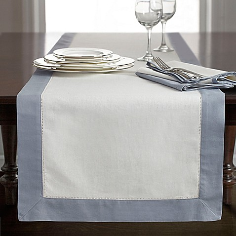 Wamsutta bordered linen table runner for Table runners 52 inches