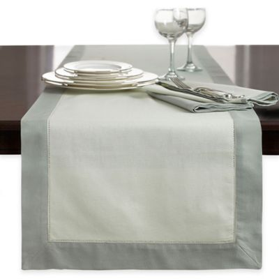 Wamsutta® Bordered Linen 72-Inch Table Runner in Rust
