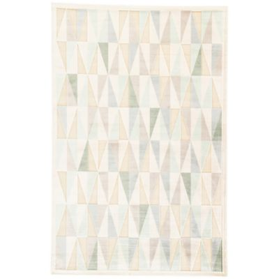 Jaipur Fables Tria 2-Foot x 3-Foot Area Rug in Ivory/Tan