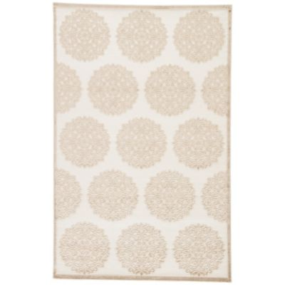 Jaipur Fables Mythical 2-Foot x 3-Foot Area Rug in Ivory/Tan