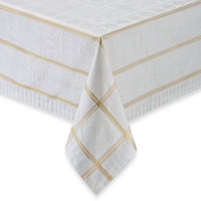 Garnier-Thiebaut Tuileries Argent 68-Inch x 162-Inch Tablecloth in Gold