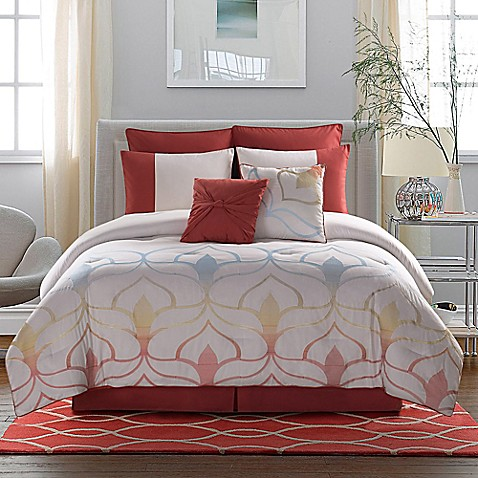 Clairebella cabo comforter set in white bed bath beyond for Clairebella