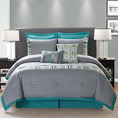 Clairebella St Kitts Comforter Set In Grey Bed Bath Amp Beyond