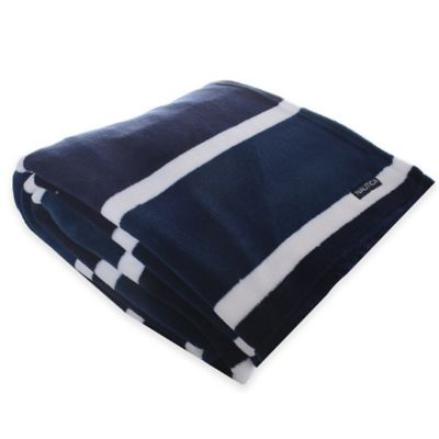 Nautica® Knots Bay Twin Fleece Blanket in Navy