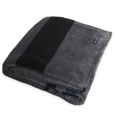 Nautica® Sebec Twin Fleece Blanket in Grey Multi