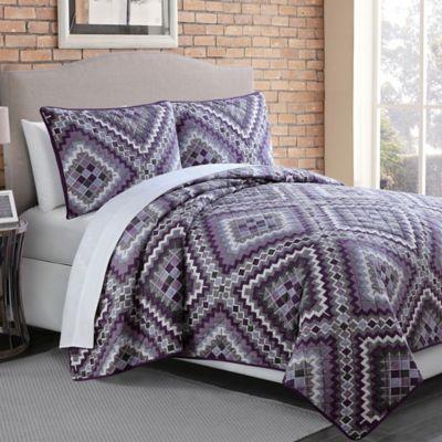 Saguaro Full/Quilt Set in Purple