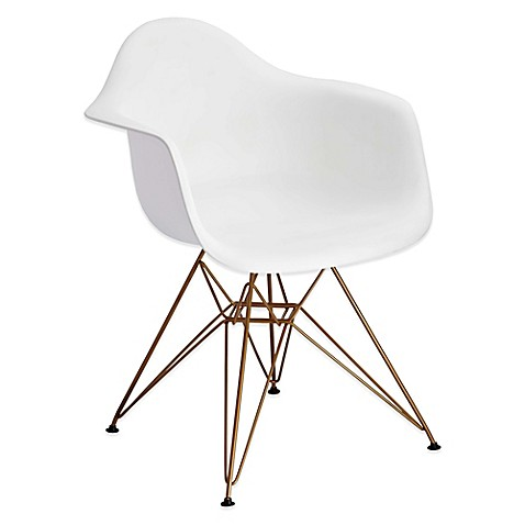 Design Guild Banks Dining Chair With Gold Legs In White Bed Bath Beyond