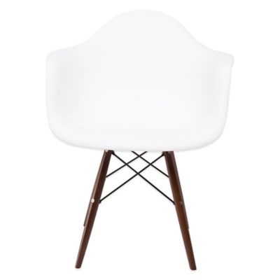 American Atelier Banks Armchair in White/Brown