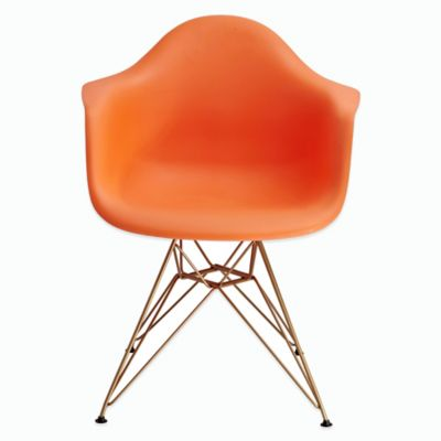 American Atelier Banks Dining Chair with Gold Legs in Orange