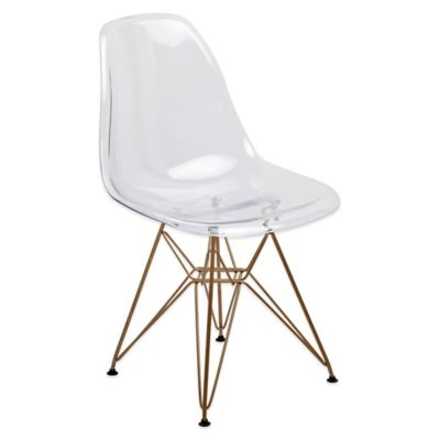American Atelier Banks Chair with Gold Legs in Orange