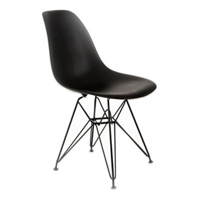 American Atelier Banks Chair with Black Legs in Dark Grey