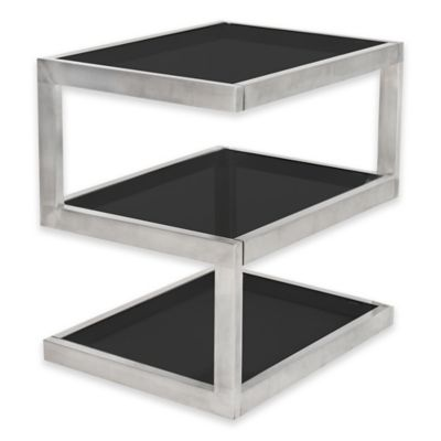 LumiSource 5S Side Table with Clear Glass