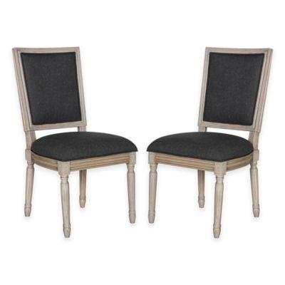 Safavieh Buchanan Side Chairs in Grey/Charcoal Grey (Set of 2)