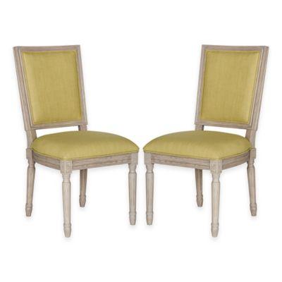 Safavieh Buchanan Side Chairs in Grey/Spring Green (Set of 2)