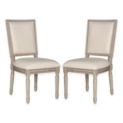 Light Grey Linen Dining Chairs