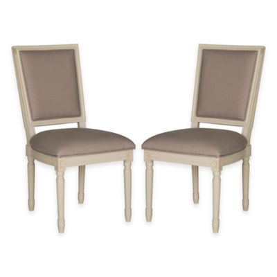 Safavieh Buchanan Side Chairs in Oak/Beige (Set of 2)