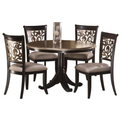 Hillsdale Bennington 5-Piece Dining Set in Black Distressed Grey