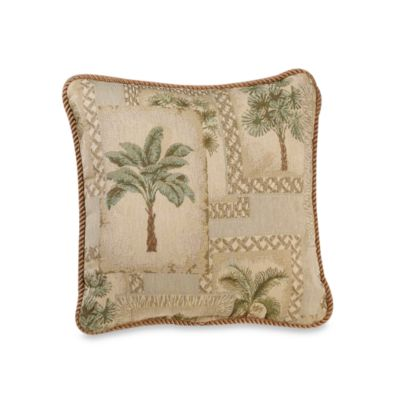 Palm Grove 18-Inch Square Throw Pillow
